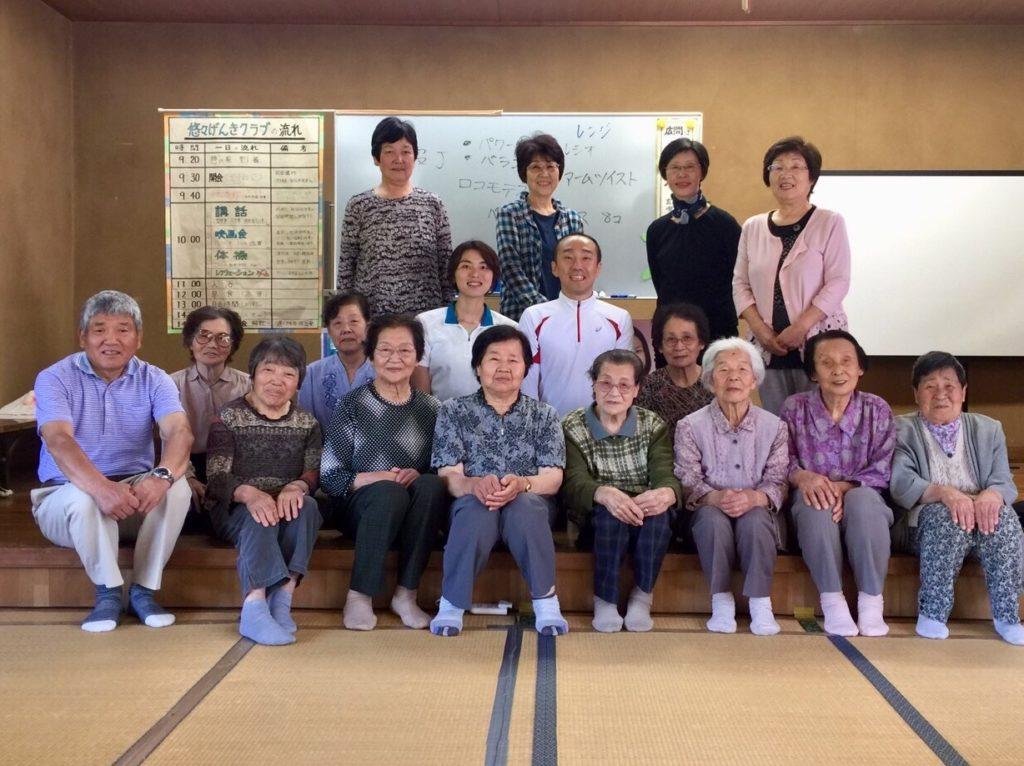 村田町にある高齢者施設で健康寿命を向上させるために、足腰とお尻を活性化させる健康講座を開催しました!
